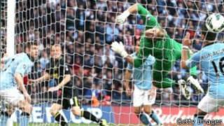 Ben Watson a marqué l'unique but de la victoire pour Wigan contre Manchester City à la dernière minute de jeu.