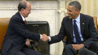 U Thein Sein and President Obama