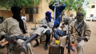 Des combattants du Mujao, le 16 Juillet 2012 à Gao