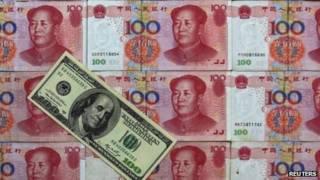 Dólares y yuanes