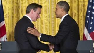 David Cameron (izq.) y Barack Obama (foto de archivo)