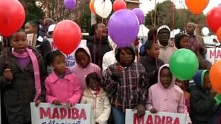 Cầu nguyện cho sức khỏe của Mandela