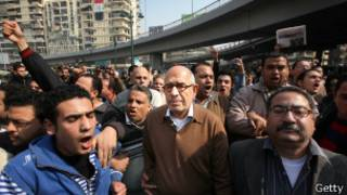 Mohamed El Baradei en la plaza Tahir