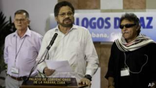 Delgación de las FARC al proceso de paz de La Habana