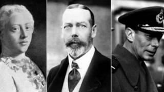 Vua George III, George V và George VI