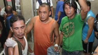 Sobrevivientes en un hospital de Cebu