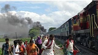 Treni iliyowagonga watu Bihar India