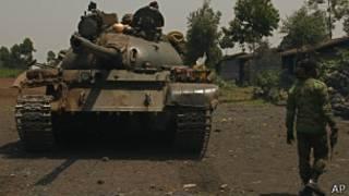 Jeshi la serikali ya DRC kwenye kambi yao Goma