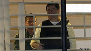 Roger Pinto en la embajada brasileña