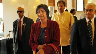Navi Pillay arriving in colombo