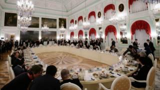 जी 20 के नेताओं का रात्रिभोज