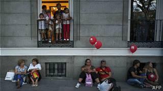 madrileños frustrados por la eliminación olímpica