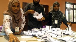 मालदीव में राष्ट्रपति चुनाव की मतगणना