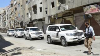 Inspetores da ONU visitam Damasco   Foto: Reuters