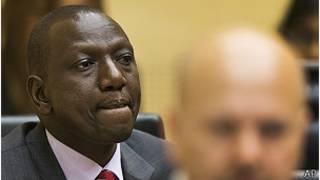 El vicepresidente de Kenya, William Ruto, en el juicio.