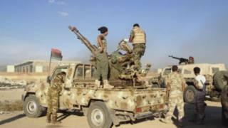 Des militaires libyens