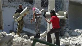 Rebeldes sirios en Latakia
