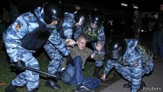 Disturbios en Moscu