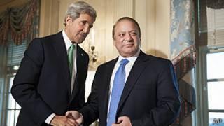 Joh Kerry reunido con el primer ministro de Pakistán, Nawaz Sharif