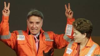 Eike Batista y Dilma Roussef
