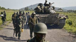 Soldados congoleses