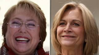 Bachelet (esq.) e Matthei (Reuters)