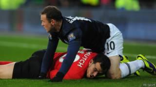 Wayne Rooney mentakel Jordon Mutch