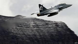 Caça Gripen Foto AFP