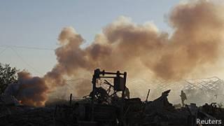 Uno de los campamentos de Hamas