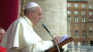 Papa Francis ashikiriza ijambo rya Noel i Roma