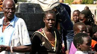 Desplazados por la violencia en Sudán del Sur