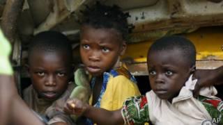 Niños en la República Centroafricana