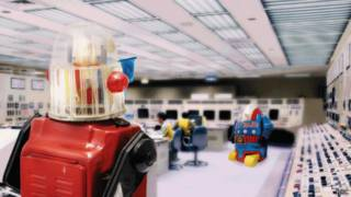 fábrica con robots