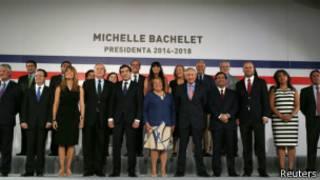 Michelle Bachelet  Bachelet con su gabinete