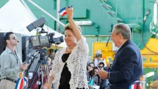 Dilma e Raúl Castro na inauguração do porto de Mariel (Ag Brasil)