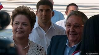 Dilma Rousseff y Raúl Castro