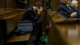 Oscar Pistorius en el juicio