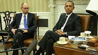 Obama y Yatsenyuk