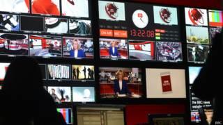 Estudio de la BBC en Londres