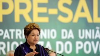 Dilma, em cerimônia do pré-sal, em dezembro (AFP)