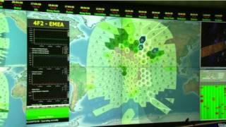 Mapas da Inmarsat. Foto: BBC