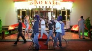 Kasino di Azov City, Krimea, AFP
