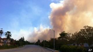 Incendio en el Bosque de San Bernardino