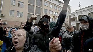 Activistas prorrusos en Odesa