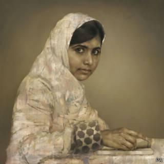 Lukisan Malala oleh Jonathan Yeo