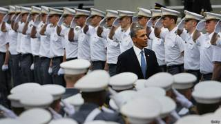 Obama na Academia West Point, nesta quarta (Getty)