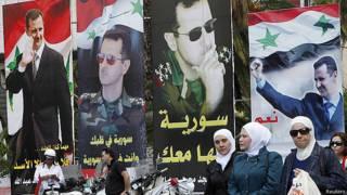 Bashar al Asad en las calles de Damasco