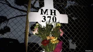 Ofrenda floral en memoria del MH370