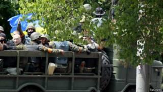 Fuerzas ucranianas en Mariupol