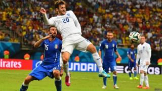 इटली-इंग्लैंड विश्व कप फ़ुटबॉल